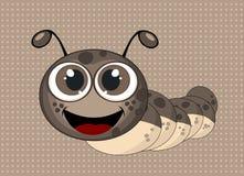 Ejemplo de Caterpillar en fondo marrón punteado Foto de archivo libre de regalías