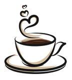 Ejemplo de Coffe Imagen de archivo libre de regalías