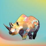 Ejemplo de color de un rinoceronte Fotografía de archivo libre de regalías