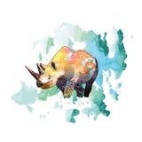 Ejemplo de color de un rinoceronte Fotos de archivo