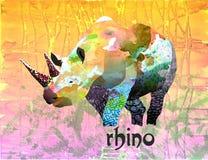 Ejemplo de color de un rinoceronte Imagenes de archivo