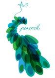 Ejemplo de color del pavo real Imagen de archivo
