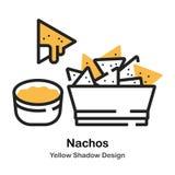 Ejemplo de color lineal de los Nachos libre illustration