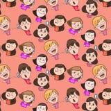 Ejemplo de color, los caracteres de los niños stock de ilustración