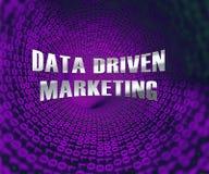 Ejemplo de comercialización conducido datos del Analytics 3d de la base de datos libre illustration