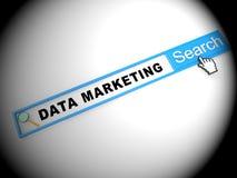 Ejemplo de comercialización conducido datos del Analytics de la base de datos 2.o libre illustration