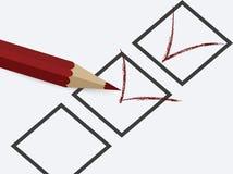 Ejemplo de completar el cuestionario 1 Fotografía de archivo libre de regalías