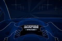 Ejemplo de conducción autónomo stock de ilustración