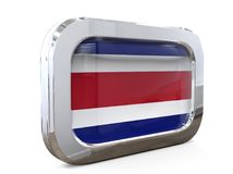 Ejemplo de Costa Rica Button Flag 3D Fotografía de archivo libre de regalías