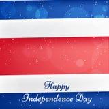 Ejemplo de Costa Rica Independence Day Background Fotografía de archivo libre de regalías