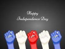 Ejemplo de Costa Rica Independence Day Background Fotos de archivo