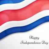 Ejemplo de Costa Rica Independence Day Background Imagen de archivo libre de regalías