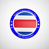 Ejemplo de Costa Rica Independence Day Background Foto de archivo