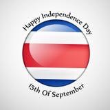 Ejemplo de Costa Rica Independence Day Background Fotos de archivo libres de regalías