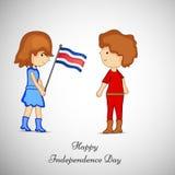 Ejemplo de Costa Rica Independence Day Background Fotografía de archivo