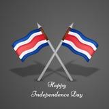 Ejemplo de Costa Rica Independence Day Background Imágenes de archivo libres de regalías