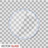 Ejemplo de cristal de la lente en un fondo a cuadros Imagen de archivo libre de regalías