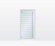 Ejemplo de cristal de la puerta Imágenes de archivo libres de regalías