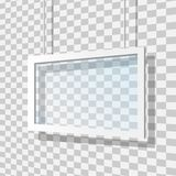 Ejemplo de cristal del vector del marco Foto de archivo libre de regalías