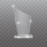 Ejemplo de cristal del vector del premio del trofeo Foto de archivo