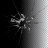 Ejemplo de cristal roto realista Foto de archivo