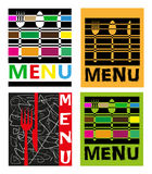 Ejemplo de cuatro menús Foto de archivo