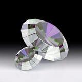 Ejemplo de diamantes de lujo en fondos de la pendiente Cristales brillantes 3d rinden stock de ilustración