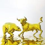 Ejemplo de Digitaces de Bull y del oso ilustración del vector