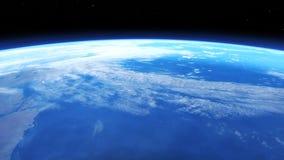 Ejemplo de Digitaces 3D de una escena del espacio Imagen de archivo