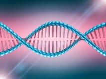 Ejemplo de Digitaces de un modelo de la DNA 3d Imágenes de archivo libres de regalías