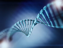 Ejemplo de Digitaces de un modelo de la DNA 3d Fotos de archivo