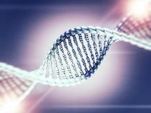 Ejemplo de Digitaces de un modelo de la DNA 3d Foto de archivo