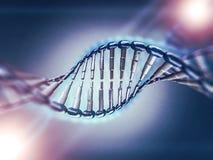 Ejemplo de Digitaces de un modelo de la DNA 3d Fotografía de archivo libre de regalías
