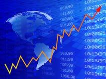 Ejemplo de Digitaces del gráfico del mercado de acción Foto de archivo