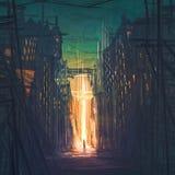 Ejemplo de Digitaces de la ciudad y de la cruz libre illustration