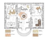 Ejemplo de Digitaces Plan de piso Fotografía de archivo libre de regalías