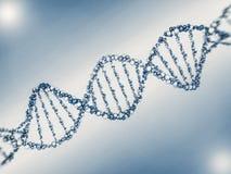 Ejemplo de Digitaces de un modelo de la DNA en fondo de la ciencia 3d Imagenes de archivo