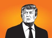 Ejemplo de Donald Tramp stock de ilustración