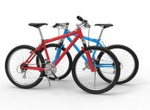 Ejemplo de dos bicicletas stock de ilustración