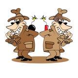 Ejemplo de dos espías Foto de archivo libre de regalías