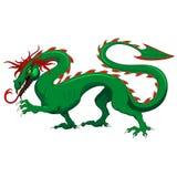 Ejemplo de Dragon Legendary Fantasy Animal Vector aislado en blanco libre illustration
