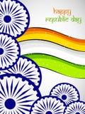 Ejemplo de elementos del día de la república de la India stock de ilustración