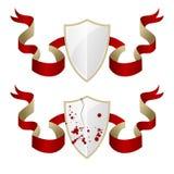 Ejemplo de escudos medievales Fotografía de archivo
