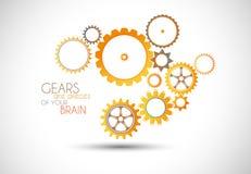 Ejemplo de Gear del mecánico del concepto. Fotografía de archivo
