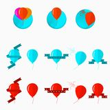 Ejemplo de globos Imagenes de archivo