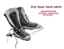 Ejemplo de gumshoes Zapatillas de deporte Foto de archivo libre de regalías