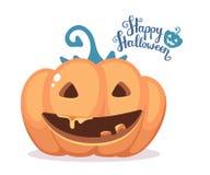 Ejemplo de Halloween del vector de la calabaza anaranjada decorativa Imagen de archivo libre de regalías