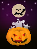 Ejemplo de Halloween para los flayers Fotografía de archivo libre de regalías