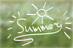 Ejemplo de Handlettering del verano Imágenes de archivo libres de regalías