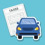 Ejemplo de impuestos, icono editable del vector Imagen de archivo